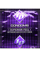 Id Superior Feel Lubricated Latex Condoms 3 Each Per Pack