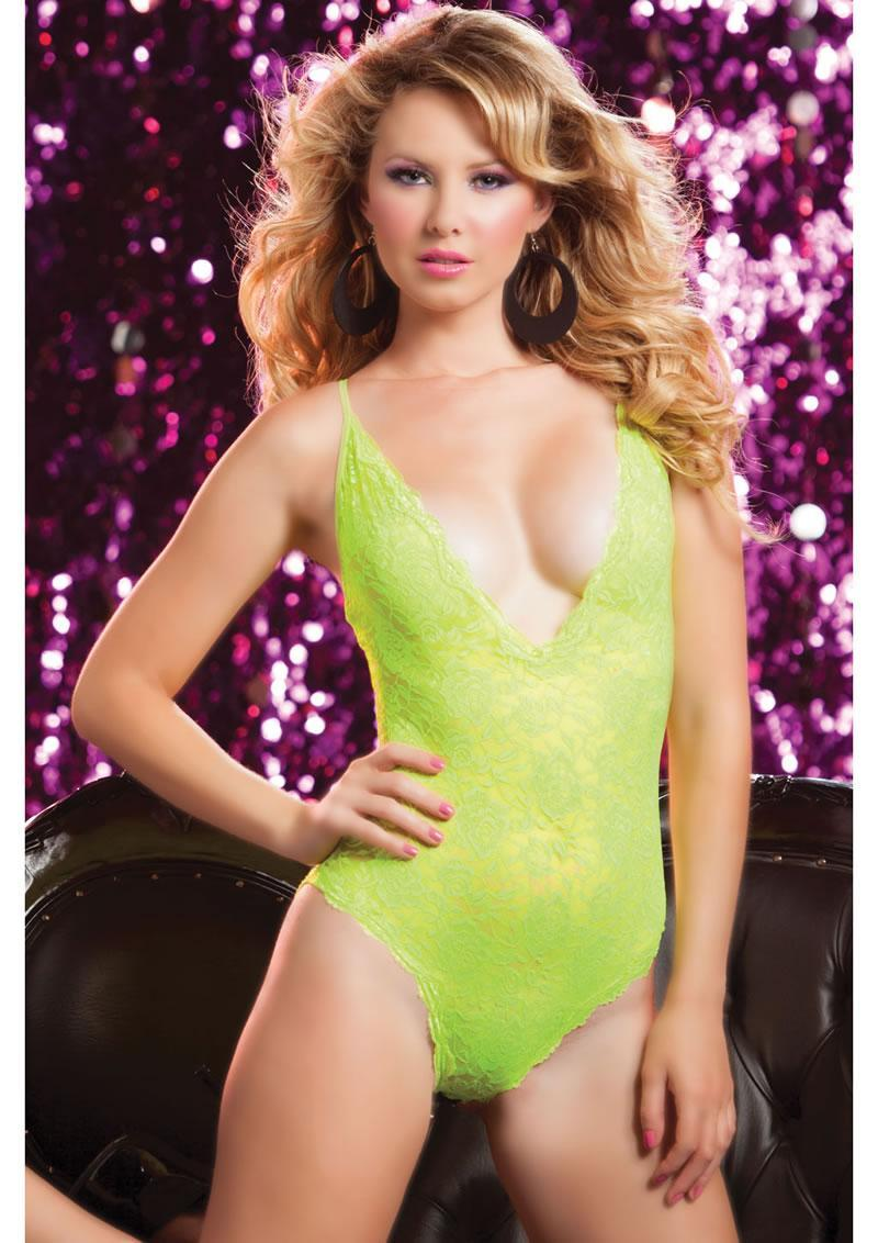 Life In Fast Lace Teddy-yellow-os